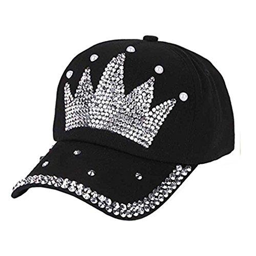 (Raylans Fashion Women Bling Studded Rhinestone Crystal Love Lips Baseball Caps Hats)