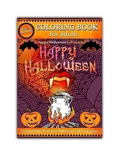 halloween-coloring-book-for-adults-volume-09-by-prajakta-p-spiral-bound-stress-relieving-fun-pattern