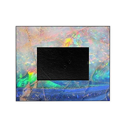 White Opal Frame - CafePress - Opal Gemstone Iridescent Mineral Bli - Decorative 8x10 Picture Frame
