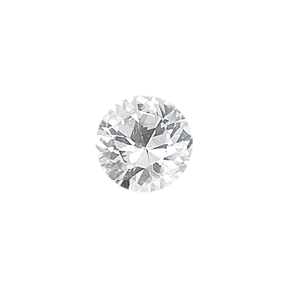 0.76-0.96 Cts of 6 mm AAA Round White Sapphire ( 1 pc ) Loose Gemstone