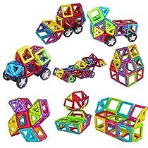 261 Pieces Magnetic Building Blocks Set Educational Stacking Tiles Creative Imagination Development Toys