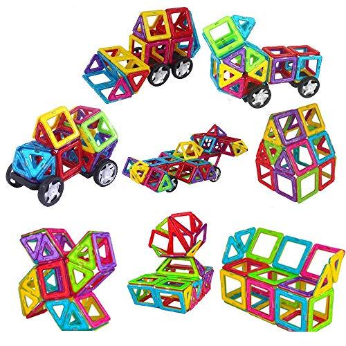 WiAllFun 261 Pieces Magnetic Building Blocks Set Educational Stacking Tiles Creative Imagination Development Toys