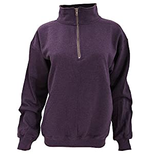 Gildan Adult Vintage 1/4 Zip Sweatshirt Top (L) (Blackberry)