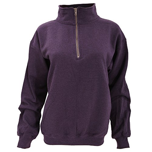 Gildan Adult Vintage 1/4 Zip Sweatshirt Top (M) (Blackberry) - Vintage Zip