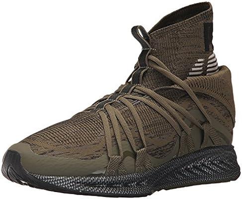 sports shoes fbd53 c36da PUMA Men's Ignite Evoknit Fold CF Sneaker, Olive Night Black ...