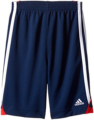 adidas Toddler Boys' Dynamic Speed Short, Navy/Red, 3T