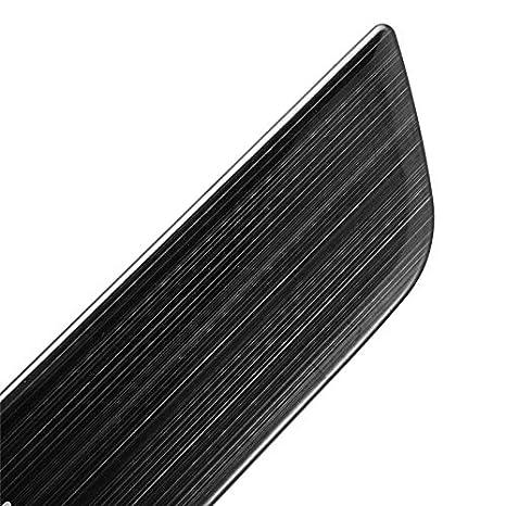 TOOGOO Edelstahl Autot/üRschwellenverschlei?Platte Willkommen Pedal Schutzleiste Einstiegsleisten Dekoration Wrap Cover f/ür Tesla Model 3 Silber