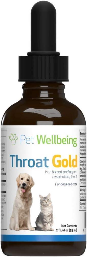 Pet Wellbeing Oro Garganta para Gatos - Natural De La Tos Y La Garganta Chupete para Felinos - 2 Oz (59 Ml)