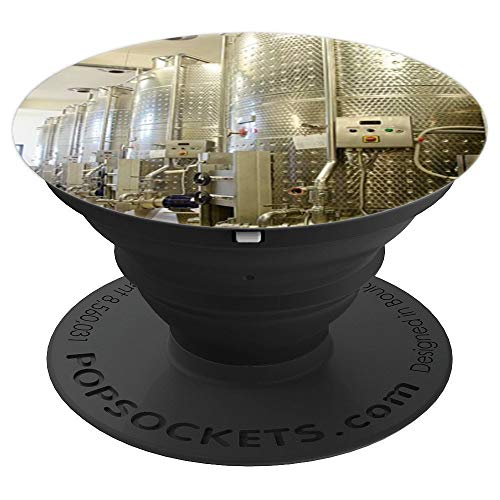 Winery Stainless Steel Wine Tanks Winemaker Profession Gift - PopSockets Grip and Stand for Phones and Tablets ()