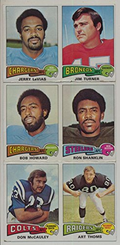 1975 Topps Football Uncut Sheet F 6 cards 158 181 264 37 123 88 46174 ()