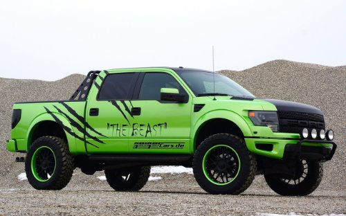 Ford F-150 Svt Raptor The Beast by GeigerCars 2014 Truck Art Poster Print on