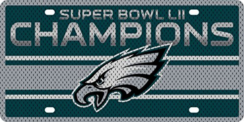 Philadelphia Eagles Super Bowl Champions SD23268 Printed JERSEY Style Premium Laser Acrylic License Plate Tag Football ()