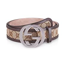 GUCCI - Leather Belt for Men DOUBLE G (114876F40IR9643) - brown, 95