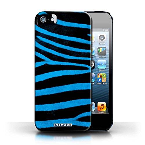 Case für Apple iPhone 5/5S / Blau Entwurf / Zebra Tier Haut/Print Collection