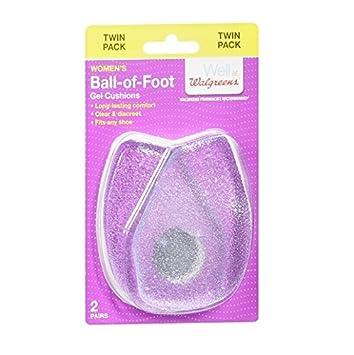 Amazoncom Walgreens Ball Of Foot Gel Cushion Womens 2 Pr