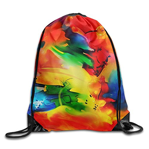Explore Wallpaper Drawstring Gym Sport Bag, Large Lightweight Gym Sackpack Backpack For Men And (Parks And Recreation Costume Party)