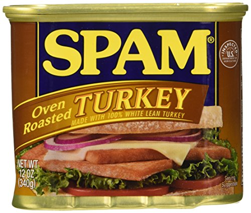 SPAM Oven Roasted Turkey, 12-Ounce Cans (Pack of 6) (Canned Sandwich)