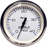 Faria Chesapeake White SS 4 Tachometer - 4,000 RPM (Diesel - Magnetic Pick-Up) consumer electronics