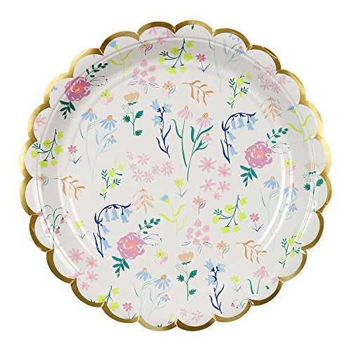 Meri Meri, Wildflower Plates, Birthday, Party Decorations