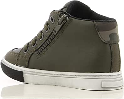 Sprox Faux Leather Stitched Badge Side-Zip Lace-up Sneaker Boots for Boys 29