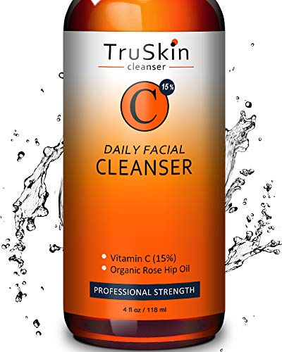 BEST Vitamin C Daily Facial Cleanser - Restorative Anti-Aging Face Wash for All Skin Types with 15% Vitamin C, Aloe Vera, MSM & Rosehip Oil (Best Rated Organic Skin Care Products)