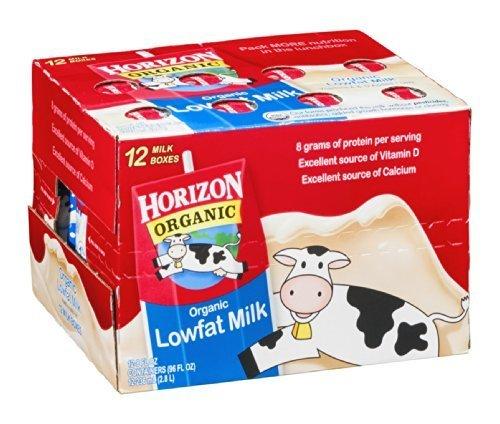 Horizon Organic Lowfat Milk 12/8 FZ (Pack of 2) by Horizon Organic Dairy (Image #1)