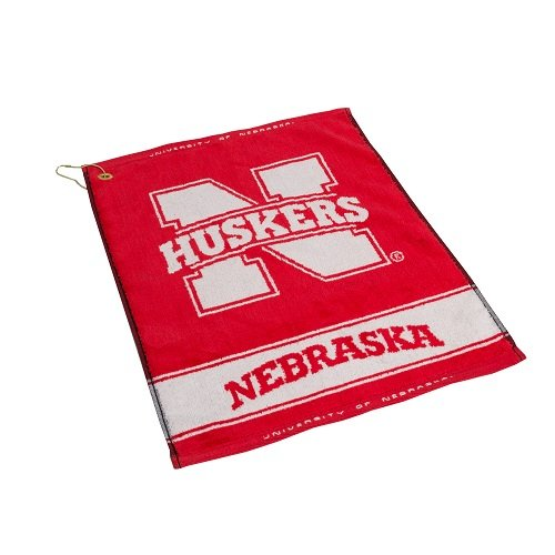 - Team Golf NCAA Nebraska Cornhuskers Jacquard Woven Golf Towel, 16