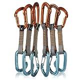 Fusion Climb 6-Pack 11cm Quickdraw Set with Contigua Blue Wire Gate Carabiner/Contigue Orange Straight Gate Carabiner