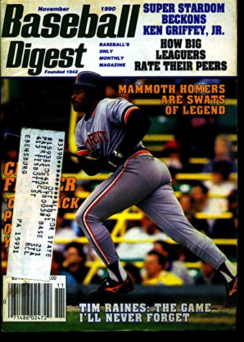- BASEBALL DIGEST NOV 1990 CECIL FIELDER TIGERS EX