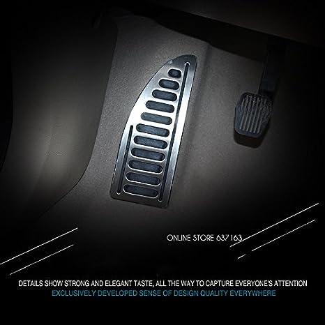 Edelstahl Fußplatte Trittbrett Fußstütze Pedal Abdeckung Fit Für Ford Focus 2 Gefasst 3 Fiesta Kuga Mondeo Smax Auto