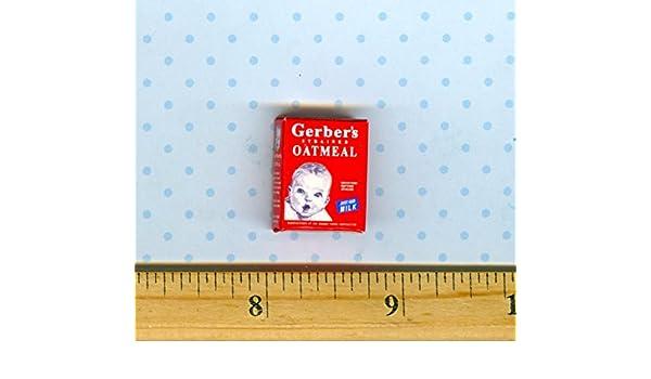 Dollhouse Miniature Baby Oatmeal Cereal Box