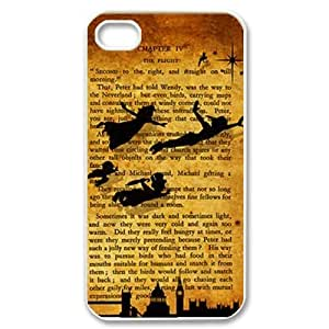 CTSLR Peter Pan Hard Case Cover Skin for Apple iPhone 4/4s- 1 Pack - Black/White - 3