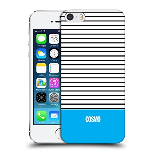 Official Cosmopolitan Sky Blue 1 Stripes Collection Hard Back Case for Apple iPhone 5 / 5s / SE