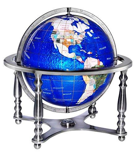 Compass Jewel Silver World Globe by Replogle Globes