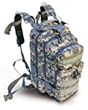 Ultimate Arms Gear ACU Army Digital Camo Camouflage Heavy Duty Combat Multi-Functional Equipment Survival Assault Transport Medium 17″ Bug-Out Bag BackPack with Adjustable Slip Shoulder Detachable Length Straps MOLLE Modular PALS Attachment System Shooting Range Military Army Patrol Paintball Hunting Camping Law Enforcement Travel Vacation Heavy Duty Patrol Gear Rucksack Pack AMB3 Level 3 Review