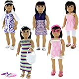 Doll Clothes - 24 Pieces Clothing Outfit Fits American Girl Doll, My Life Doll, Our Generation and o