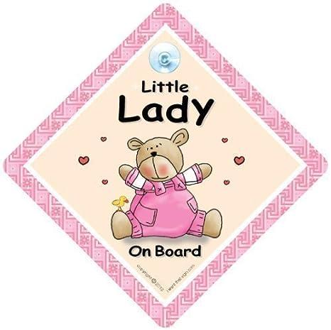 Señal de coche con ventosa para bebé a bordo, texto en ...