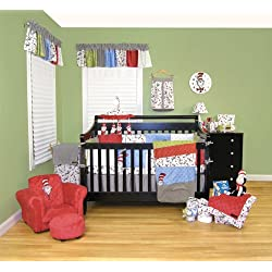 Dr. Seuss Cat in the Hat 11-Piece Complete Crib Bedding Set By Trend Lab