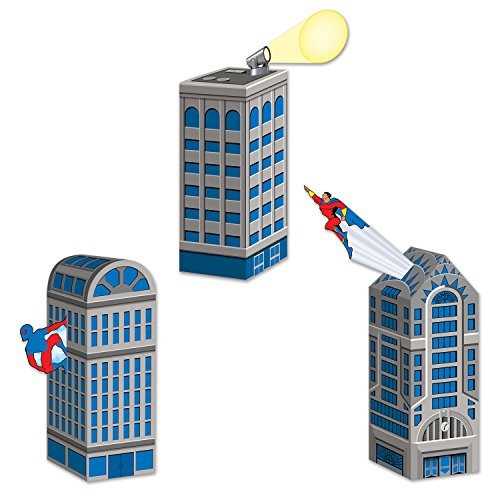 Beistle Hero Cityscape Favor Boxes -