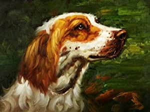 Oil painting 'a Dog' printing on Perfect effect Canvas , 12x16 inch / 30x41 cm ,the best Garage gallery art and Home decor and Gifts is this Cheap but High quality Art Decorative Art Decorative Prints on Canvas