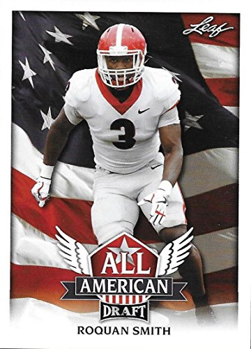 2018 Leaf Draft All-American #AA-12 Roquan Smith Georgia Bulldogs Football (Smith Football Card)