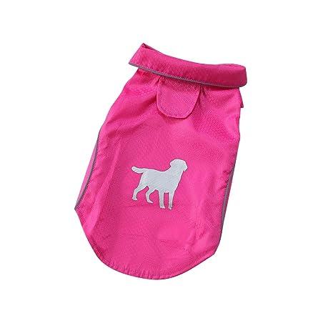 Extaum Dog Rain Coat S-XL Summer Outdoor Puppy Pet con Rayas ...