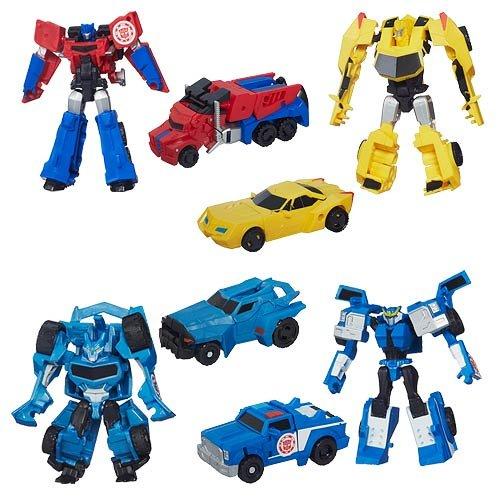 Transformers Robots in Disguise Legion Figure Set of 4 - Optimus Prime, Bumblebee, Steeljaw & Strongarm