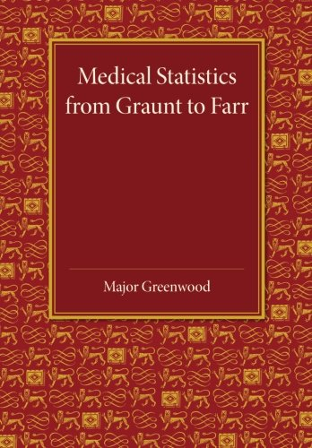 Medical Statistics from Graunt to Farr: The Fitzpatrick Lectures for the Years 1941 and 1943, Delivered at the Royal College of Physicians of London in February 1943 ebook