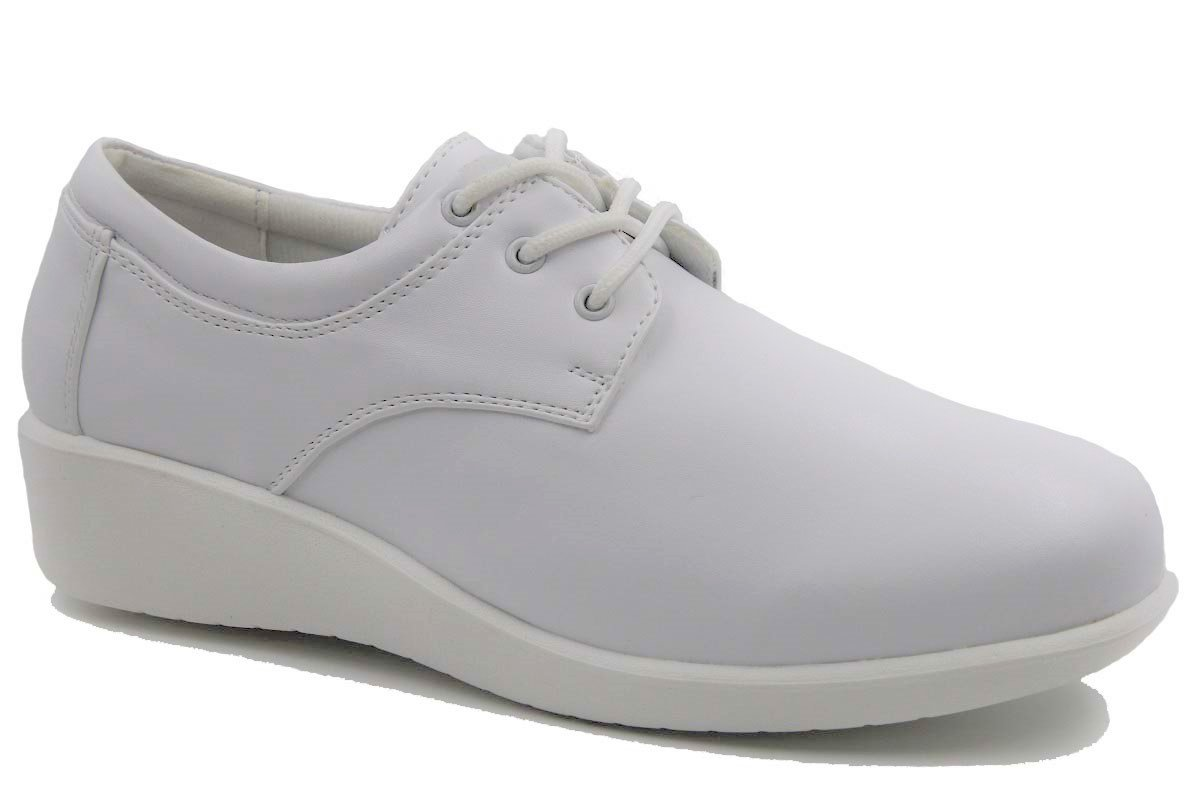 Women's Wide Width Front Lace up Padded Collar Comfort Nurse Sneaker Shoes