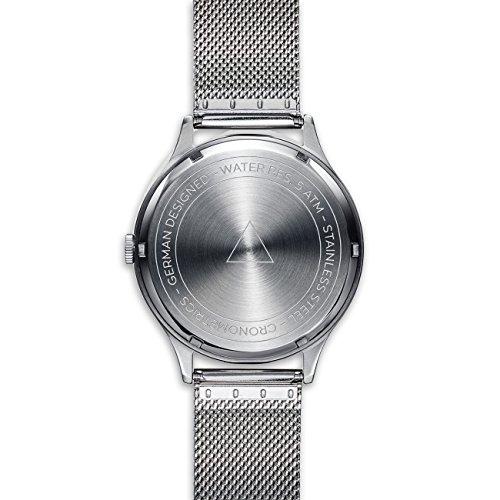 Cronometrics The Architect S9 silverfärgad med silverfärgat Milanesarmband