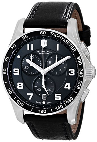 - Victorinox Men's 241651 Chrono Classics XLS 45mm Black Watch