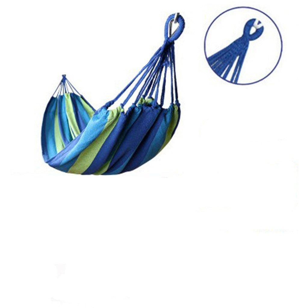 MONEYY Tela Spessa amache in Legno Curva Anti-Punta Swing Canvas Hostel dormitorio,280  150cm,b4 Outdoor Bastone di Legno