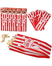 "Premium Popcorn Bags | Fresh Disposable Popcorn Bags for Movie Night, Party Favors, Classroom, and More (50 Count) 8.75"" x 3.5"""