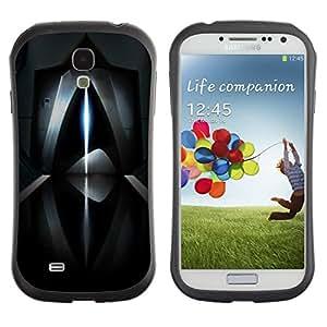 "Hypernova Slim Fit Dual Barniz Protector Caso Case Funda Para SAMSUNG Galaxy S4 IV / i9500 / i9515 / i9505G / SGH-i337 [Resumen de rayo láser futurista oscuro""]"